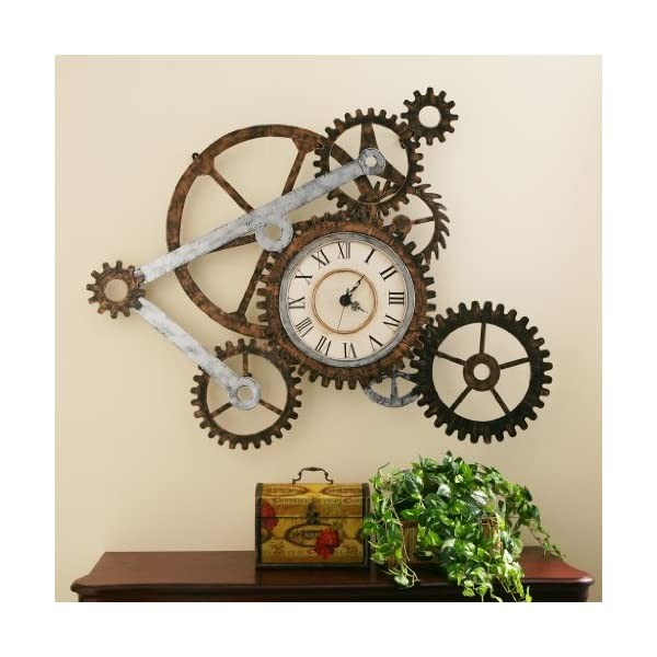 Steampunk Wall Art with Clock 5