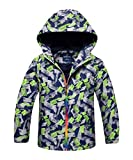 M2C Boys Hooded Outdoor Color Block Fleece Lining Windproof Jacket 3T Gray