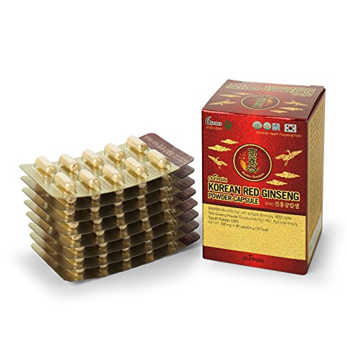 [Authentic] 6years Korean Red Ginseng Tablets - By PureGin - 300mg X 80 Tablets | Made in Korea | No Additives or Other Ingredients | 100% Panax Ginseng Powder | Ginsenoside 4mg/g l Boosting Energy Panax Ginseng 600 Mg Capsules