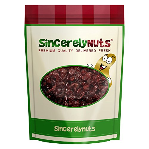 Sincerely Nuts Certified Organic Dried Cranberries - Two Lb. Bag - Mouth-watering Taste - Incomparable Freshness - Incredibly Nutritious - Kosher Certified