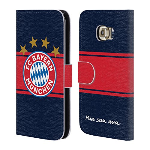 Official FC Bayern Munich Away 2017/18 Logo Kit Leather Book Wallet Case Cover For Samsung Galaxy S6 (Bayern Munich Kits)