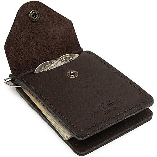 Slim Minimalist Wallet - Bifold Money Clip - Thin Leather Pocket Wallets for Men
