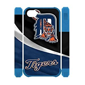 MLB Detroit Tigers Iphone 4 4S Case Dual Protective Polymer Fashion Style Detroit Tigers Iphone 4/4S Cases by icecream design