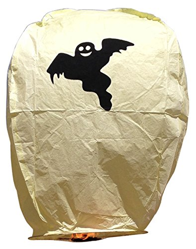 Eclipse Yellow Ghost Sky Lantern (Set of 5) - Flying Chinese Sky Lanterns by Just Artifacts