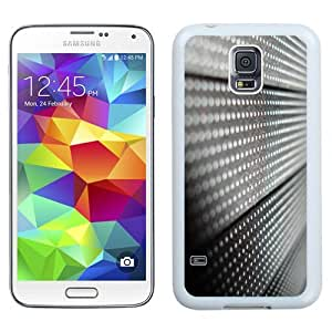 Easy use Cell Phone Case Design with Metal Surface Close-up Black And White Galaxy S5 Wallpaper in White