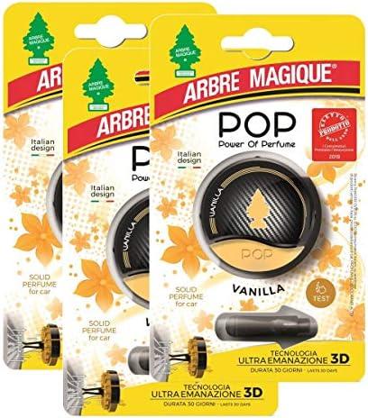 Arbre Magique Pop Power Of Perfum Auto Lufterfrischer Vanilla Duft Für Bis Zu 30 Tage Multipack Mit 3 Packungen Drogerie Körperpflege