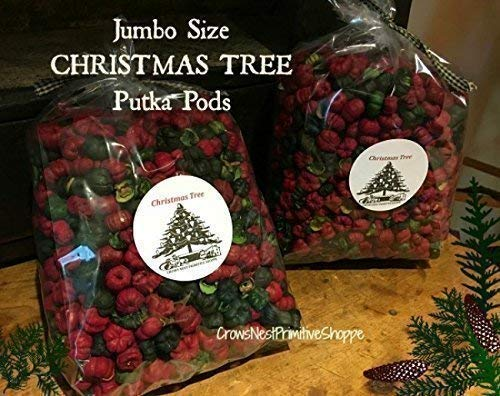 - Christmas Tree Scente4d Potpourri Putka Pods scented Christmas Tree Fragrance- Jumbo 9 cup bag labeled with Primitive Christmas Tree label