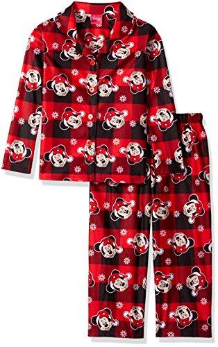 Disney Big Girls' Minnie Mouse/ 2-Piece Pajama Coat Set, Red, 10