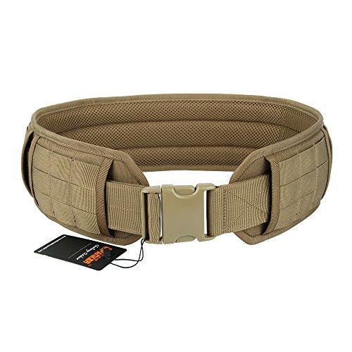EXCELLENT ELITE SPANKER Military Molle Waist Belt Multi-Purpose Patrol Padded Belt Outdoor Sports Equipment(Brown-M)