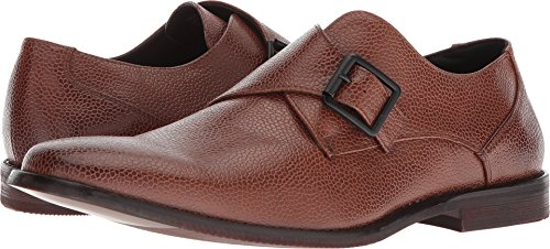 Unlisted by Kenneth Cole Men's Design 30124 Monk-Strap Loafer, Brandy, 8 M US (Strap Brandy)