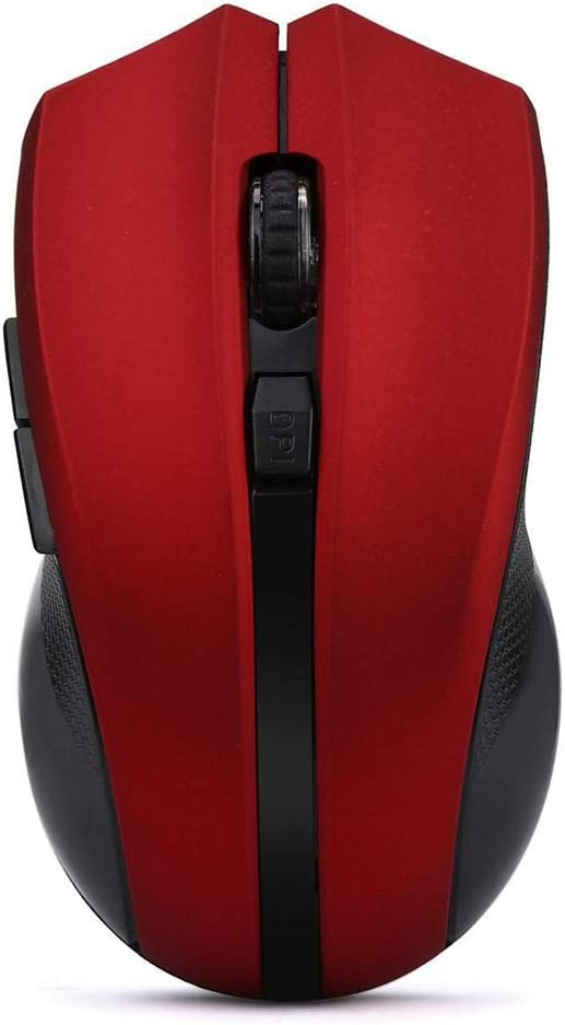 USB Receiver D.25 Red Cordless Wireless 2.4GHz Optical Mouse Mice for Laptop PC Computer