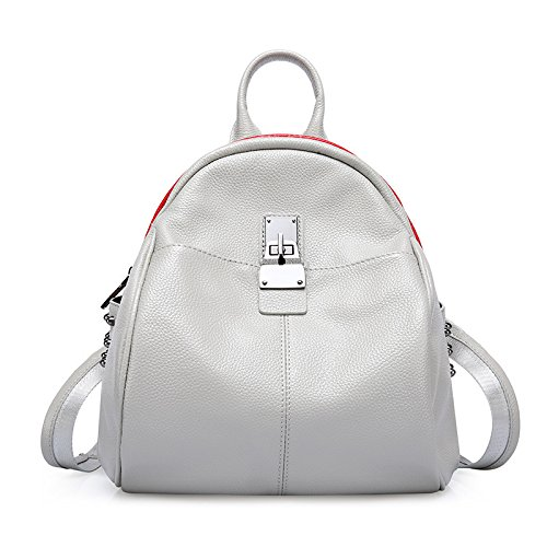 Ms Gray Bag Backpack match Wind Bag Lady White School Bag Guangming77 Gray White All Simple r4qvr