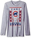 MLB Chicago Cubs Youth Boys Light the Tree Short Sleeve Tee, X-Large (18), Grey