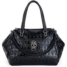 UTO Women Skull Tote Bag Large Capacity Handbag Smooth PU Leather Purse Shoulder Bags