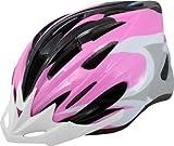 Rhoads Circuit Bicycle Helmet, Pink/Black/White, Adult