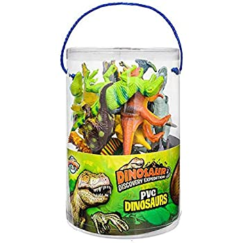 Amazon Com Boley 40 Piece Educational Dinosaur Bucket