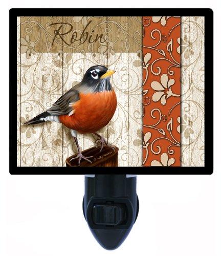 - Night Light - Robin - Bird Night Light