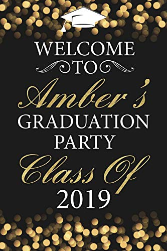 Graduation Party Sign, Grad Party, Gold Confetti Graduation Poster, Class of 2019, Black and Gold, Personalized Congratulation Graduation Party Banner, Handmade Party Supply, Size 36x24, 18x24