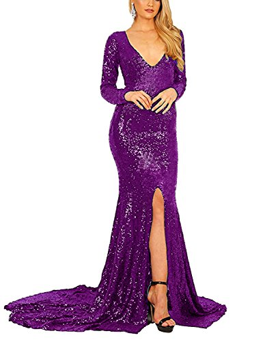 Stillluxury para Purple B Vestido mujer ajustado vvp4UawCq