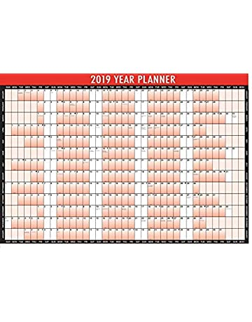 407ba7554d9 New Style 2019 Year Planner A1 Large Laminated Wall-Planner 85cm x 58cm With  Dry