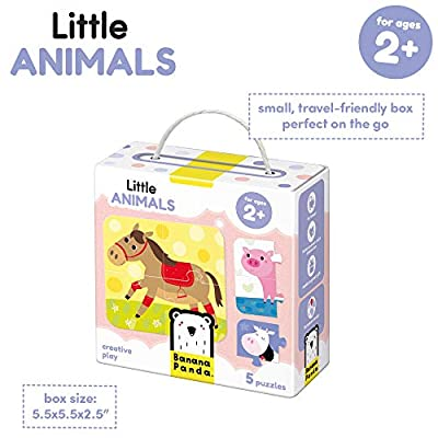 Banana Panda - Little Animals - Jigsaw Puzzle Set - includes 5 Beginner Puzzles for Kids Ages 2 Years and Up: Toys & Games