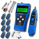 FOME NOYAFA NF-388 Multipurpose Network Cable Tester Tracker Tracer with 8 Far-end Jacks for Test Ethernet LAN Phone wire USB coaxial (Blue)+ FOME GIFT