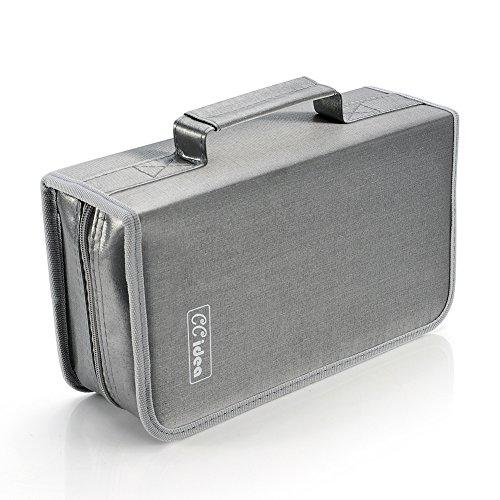 (128 Capacity CD/DVD Case Holder, Storage, Binder by CCidea)