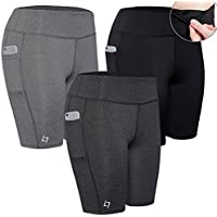 FITTIN Women's Active Fitness Pocket Sports Shorts - for Yoga Running Activewear Workout Gym Running
