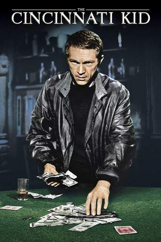 Steve McQueen in The Cincinnati Kid poker playing cards money classic art 24x36 Poster from Silverscreen