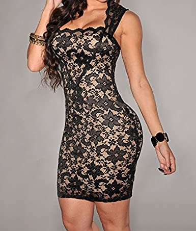 Carolina Dress Vestidos De Fiesta De Encaje Ropa De Moda 2018 Cortos Sexys Para Mujer Elegantes Casuales VE0014 at Amazon Womens Clothing store: