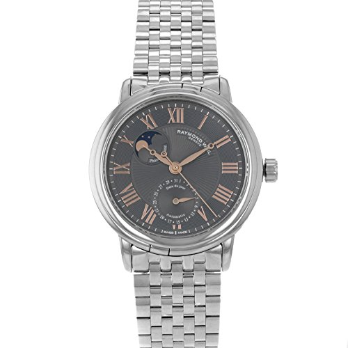 Raymond Weil Men's 2839-ST5-00609 Maestro Stainless Steel Case and Bracelet Automatic Grey Dial Watch