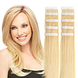 14″ Tape in Hair Extensions Remy Human Hair Seamless Glue in Tape Hair Extension 20pc 40g/pack