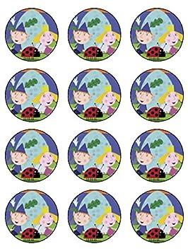 12 x 2,1 pulgadas Ben & Holly comestible glaseado cumpleaños ...