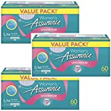 Assurance Incontinence Underwear for Women (Maximum, S/M, 60 Ct, Pack of 3)