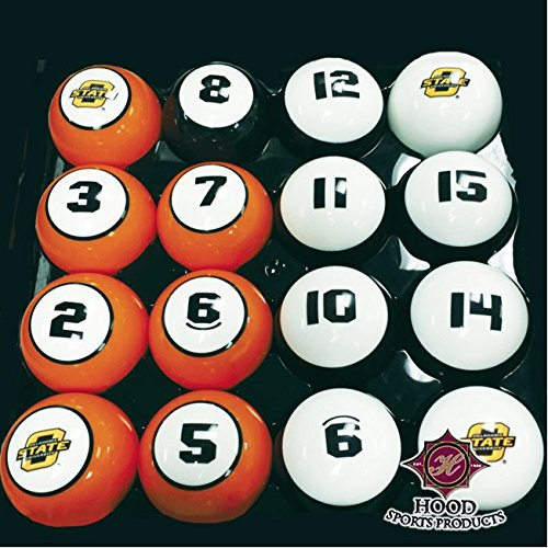 OSU OKLAHOMA STATE COWBOYS NCAA Collegiate Billiards Pool Balls Sets College by Southern Game Rooms