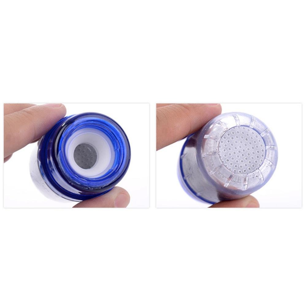Transer Double Purifier Filter Head Water Purified Tap Bamboo Charcoal Home Tool Blue