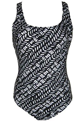 Speedo Ladies' Ultraback One Piece Swimsuit, Black/White 6 ()