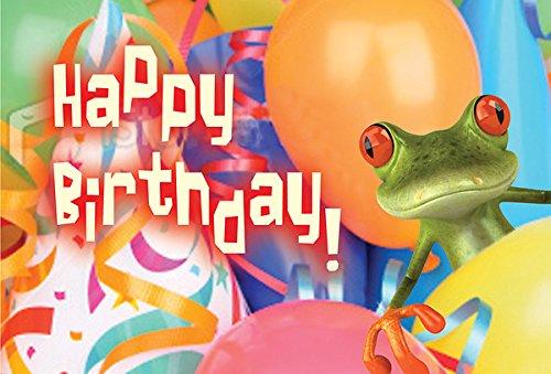(Happy Birthday Frog Postcard (Pkg of 25))