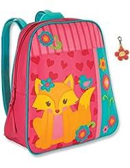 Stephen Joseph Fox Backpack with Flower Zipper Pull - Girls Backpacks