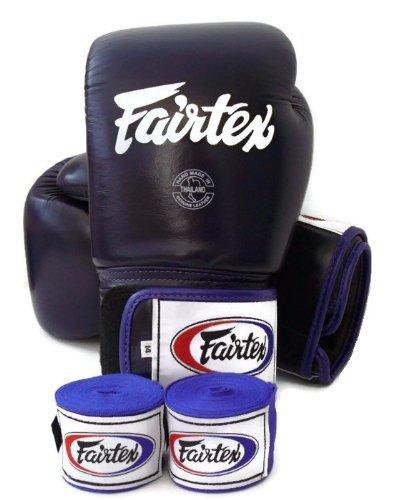Fairtex Muay Thai - Training/Sparring Gloves. BGV1 - Color White, Blue. Size: 10-16 oz. (Solid Blue, 14 oz)