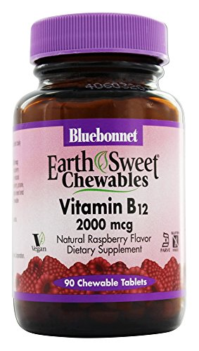 Raspberry Chewable Flavor (Bluebonnet Nutrition EarthSweet Chewables Vitamin B12 Natural Raspberry Flavor 2 000 mcg 90 Chewable Tablets)