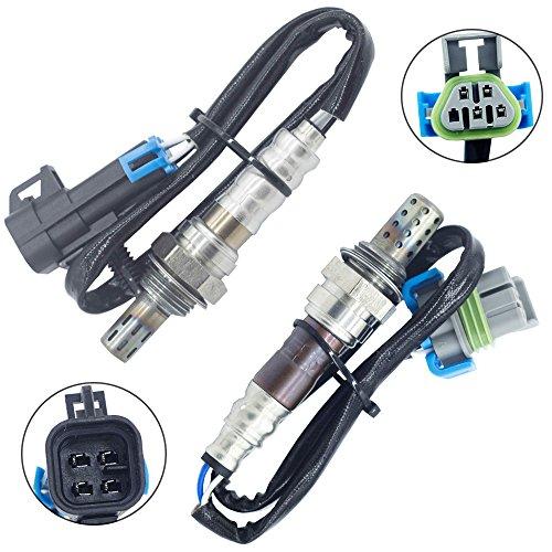 (Sangyue Oxygen Sensor O2 02 for Chevrolet Malibu Equinox Captiva Sport GMC Terrain Pontiac Solstice G6 Saturn Vue Sky Aura 2.4L Upstream+Downstream 2pcs)