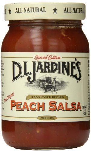 D.L. Jardine's Peach Salsa, Medium, 16 Ounce