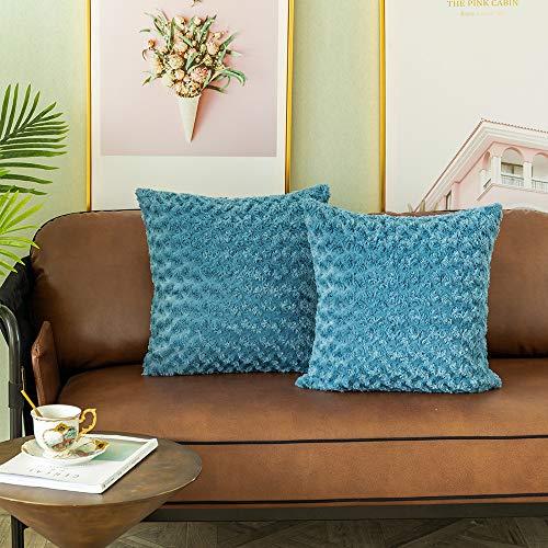 Amazon.com: LANANAS - Fundas de almohada de piel sintética ...