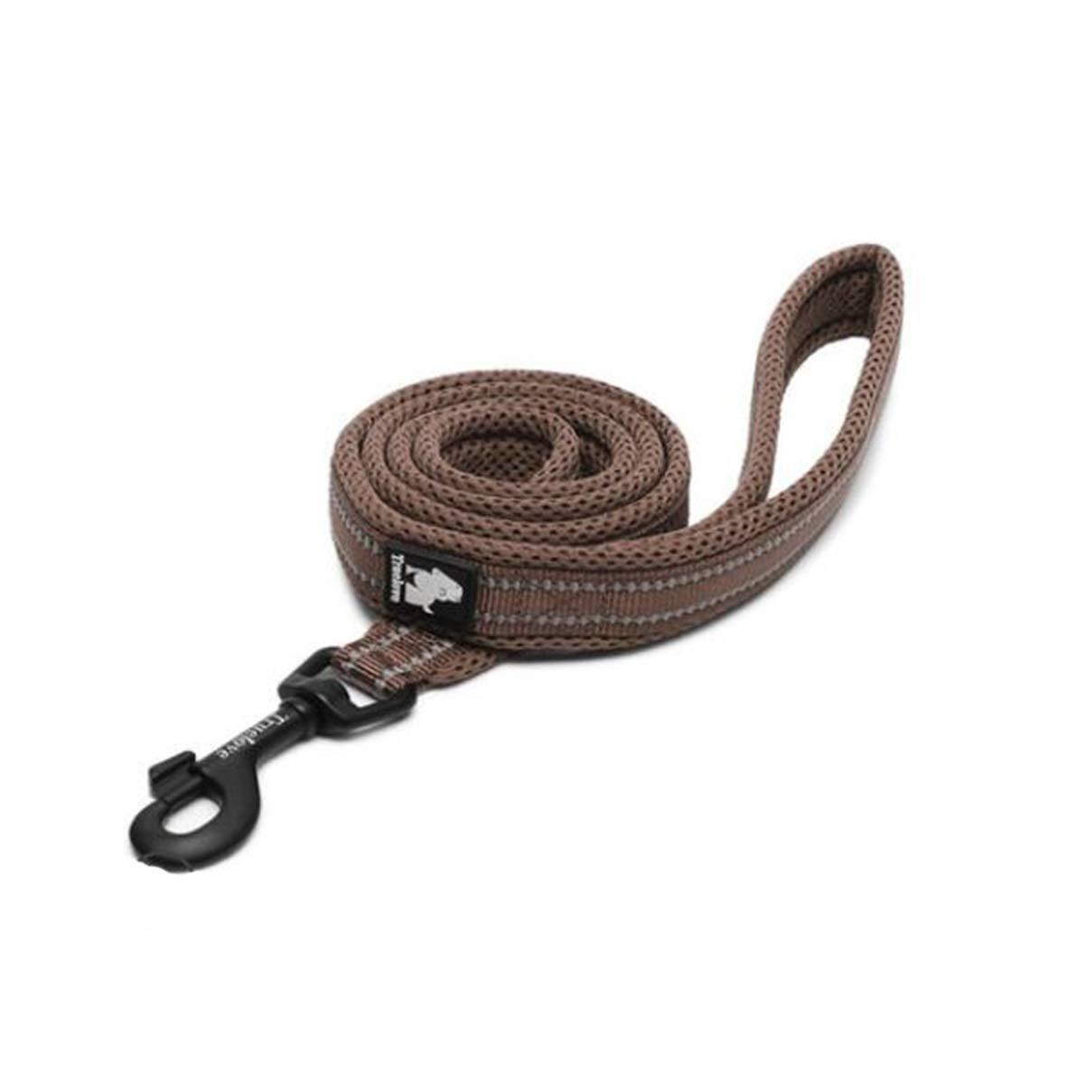 Brown Lengthening LPet Leash, Suitable for Dogs Between 10kg50kg, Oxford Cloth + Breathable mesh Fabric pet Leash, Professional pet Leash, 6, 6 colors Available (color   bluee, Size   L)