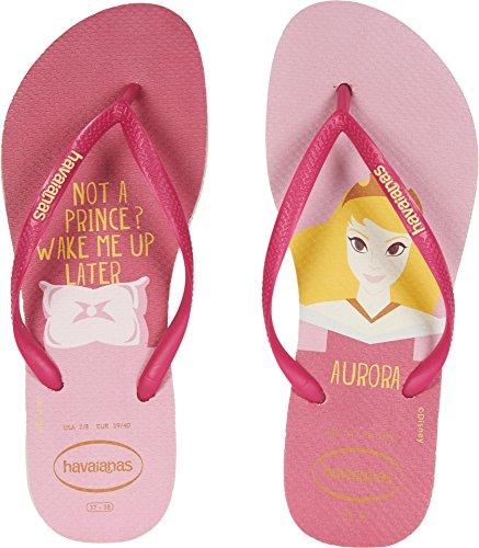 Havaianas Women's Slim Princess Flip Flops Beige/Pink 39-40