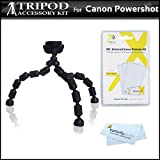 Flexible Tripod Kit For Canon PowerShot SX280 HS, EOS M, Powershot ELPH 520 HS, ELPH 530 HS, ELPH 110 HS, ELPH 320 HS, ELPH 130 IS, A2300 IS, A2400 IS, A4000 IS, D20, SX260 HS, SX510 HS, SX170 IS, S120 Digital Camera Includes Gripster Flexible Tripod ++
