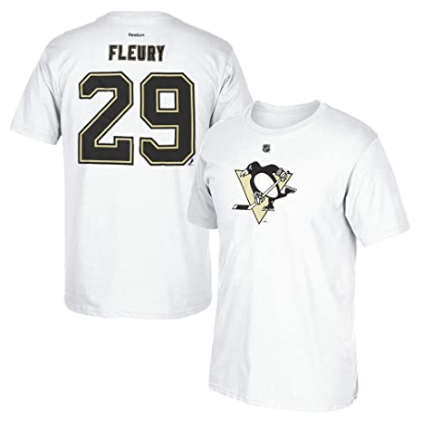 huge selection of f4907 44331 adidas Marc-Andre Fleury Reebok Pittsburgh Penguins Premier White Jersey  T-Shirt Men's