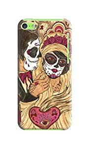 LarryToliver Popular show iphone 5c Case Beautiful Skull Arts Background image logo perfect Protector Cases for iphone 5c Case #4