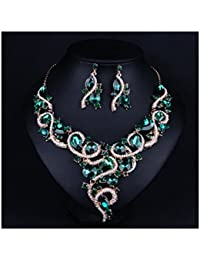 Women's Multi-color Statement Choker Necklace and...